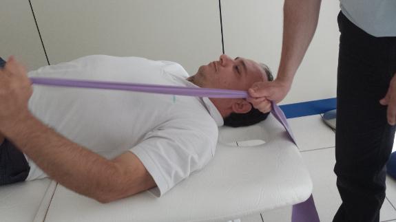 Rehabilitación de hombro con Fisiohogar